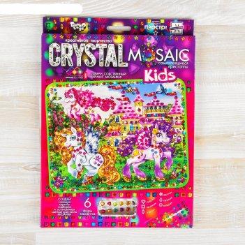 Набор для создания мозаики серии «crystal mosaic. пони», на тёмном фоне