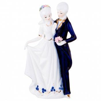 Статуэтка влюбленная пара высота=21 см  (кор=24шт.)