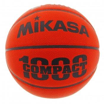 Мяч баскетбольный mikasa bqc1000, р.6, коричнево-оранжево-черный