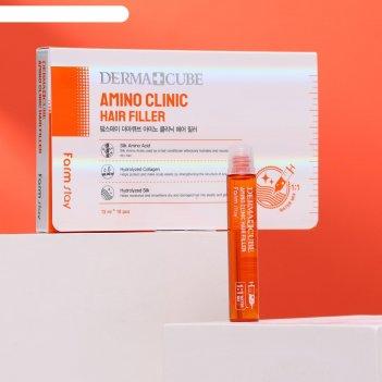Интенсивный филлер для волос farmstay с аминокислотами, 10 шт. по 13 мл