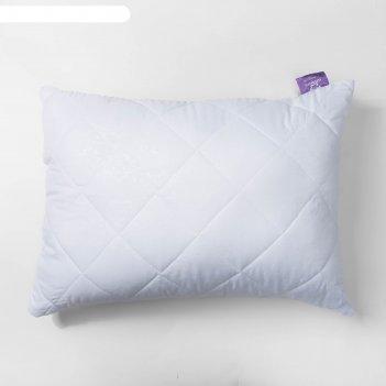 Подушка бамбук высокая 50х68 см белый, бамбук/силиконизированное волокно,