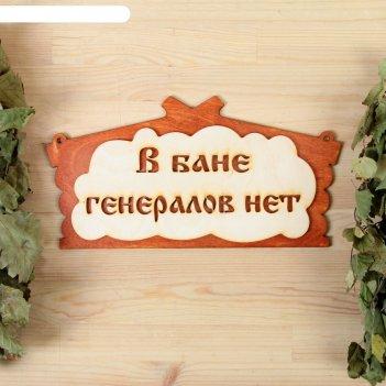 Табличка для бани в бане генералов нет в виде избы  30х17см