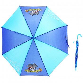 Зонт детский пират полуавтомат 8 спиц d=87см со свистком