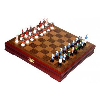 Rts-71 шахматы из олова малые крестоносцы покрашенные