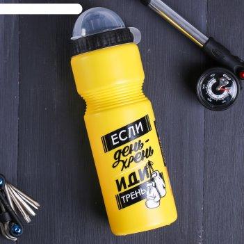 Бутылка для воды если день - хрень, 750 мл