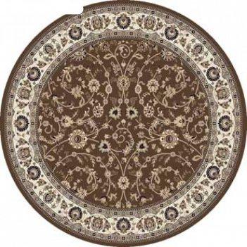 Ковёр круглый valencia deluxe d251, 200x200 см, цвет brown