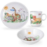 Сервиз детский 3 предм. zoo (кружка, тарелка 20 см, салатник