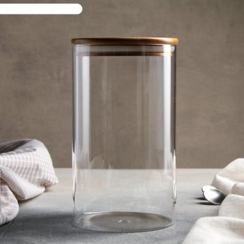 Банка для сыпучих продуктов эко 12х20,5 см