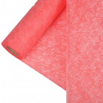 Фетр ламинированный рельефный велюр 0,5 х 5 м,красный