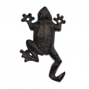 Крючок «лягушка», 10 x 15,5 x 3 см, чугун