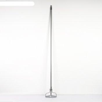 Тряпкодержатель, металлический черенок 150 см, цвет микс
