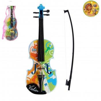 Игрушка скрипка музыкальные узоры цвета:микс