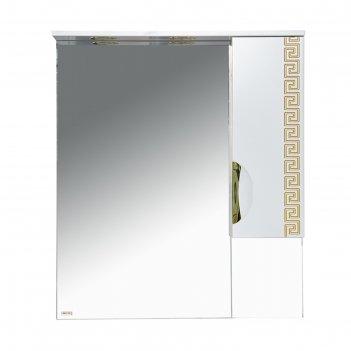 Шкаф-зеркало престиж - 80 прав. золотая патина