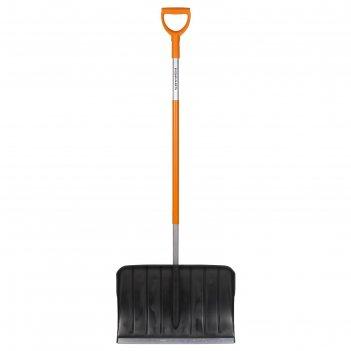 Лопата пластиковая, ковш 355 x 450 мм, с металлической планкой, металличес