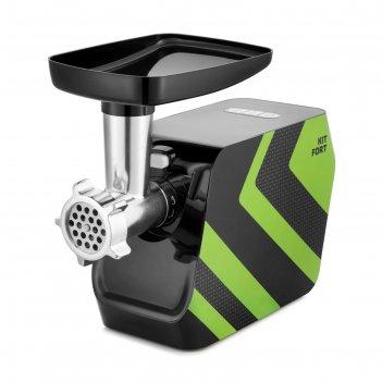Мясорубка kitfort kt-2106-2, 1200 вт, 1 кг/мин, 5 насадок, реверс, зеленая