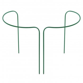 Кустодержатель, d = 40 см, h = 120 см, ножка d = 1 см, металл, набор 2 шт.
