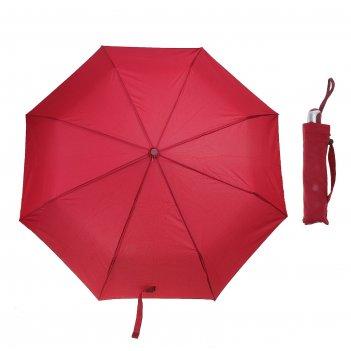 Зонт автомат однотонный, цвет красный