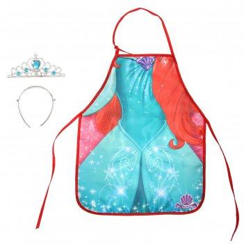 Фартук для девочек ариэль, принцессы: русалочка, + диадема