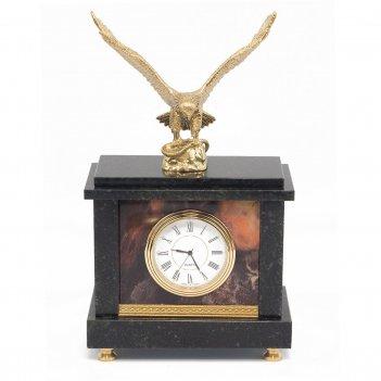 Часы орел яшма 125х70х215 мм 1600 гр.