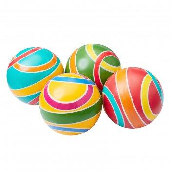 Мяч, диаметр 10 см, цвета микс