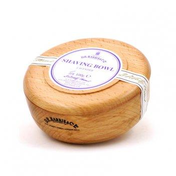 Твердое мыло для бритья в чаше из бука d. r. harris, lavender, 100 гр