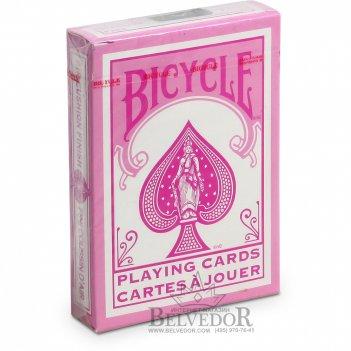 Игральные карты байсикл - розовые