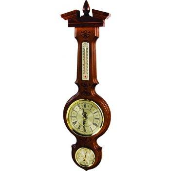 Часы с барометром и термометром настенные (м-94-ч)