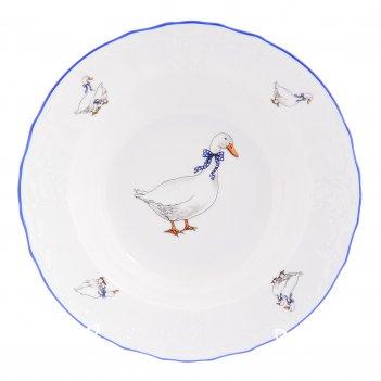 Набор глубоких тарелок bernadotte гуси 23см (6 шт)