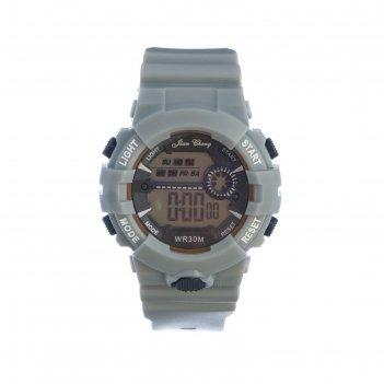 Часы наручные электронные jian cheng, d=4.5 см, ремешок силикон 24.5 см