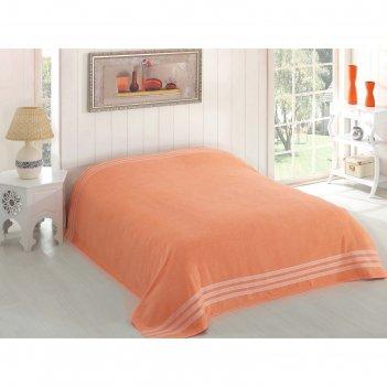 Простыня махровая petek, размер 160х220 см, абрикосовый, 310 г/м2