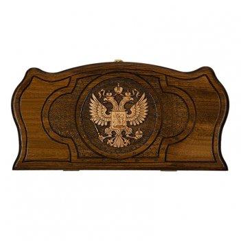 Нарды резные герб рф 3 40, mirzoyan, 40х40см