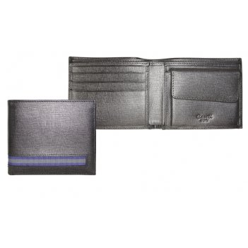 Портмоне caseti, кожа тисненая черная, 11,2 х 9,2 см