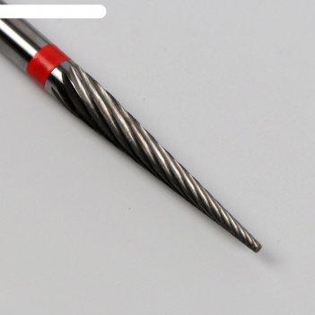 Фреза твердосплавная для маникюра «игла», одинарная, мелкая нарезка, 2,3 x