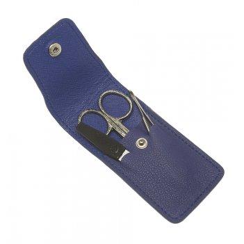 Маникюрный набор gd, 3 предмета. футляр: натур.кожа, цвет синий.
