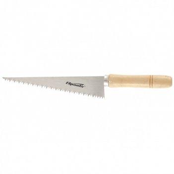 Ножовка по гипсокартону, 180 мм, деревянная рукоятка sparta