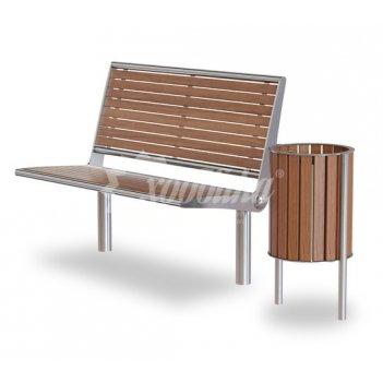 Комплект «палермо натур» скамейка + урна