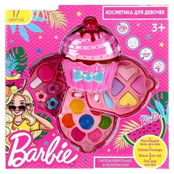Косметика для девочек «барби», тени, блеск для губ, помады, заколки