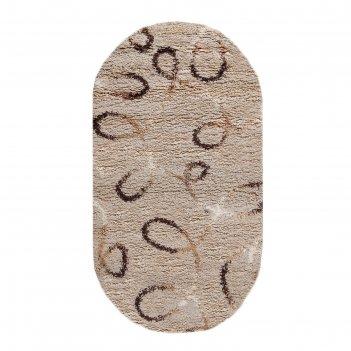 Ковёр shaggy ultra s612, 2,5*5 м, овал, beige