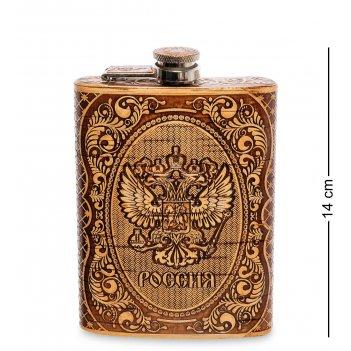 Bst-210 фляжка герб рф (береста)