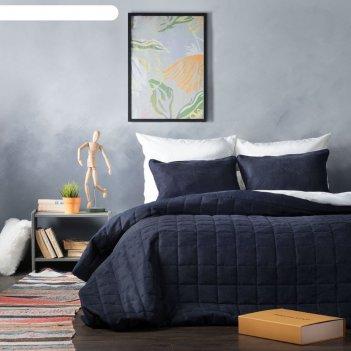 Комплект «софт»: размер 250 x 270 см, наволочки 40 x 60 см - 2 шт, синий