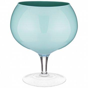 Ваза на ножке globo acqua высота 30см диаметр 24см
