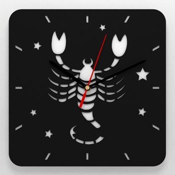 Часы со знаком зодиака скорпион