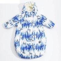 Спальный мешок детский zippy, рост 56 см, цвет синий с принтом 72335_м