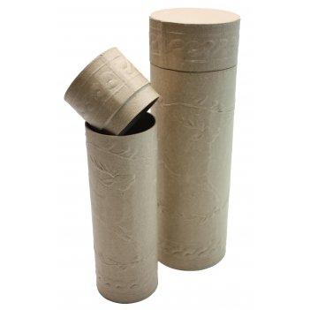 Набор из 2-х футляров для бутылок из папье-маше, 10 х 30,5 см и 7,5 х 26 с