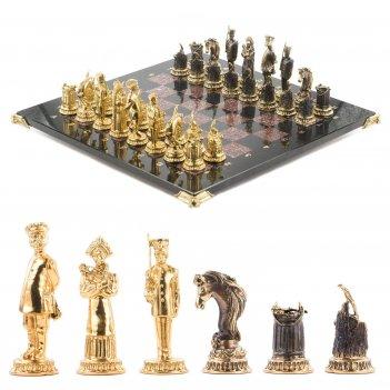 Шахматы деревенские доска 400х400 мм креноид бронза