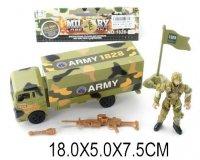 Набор военный, солдат, грузовик, аксессуары