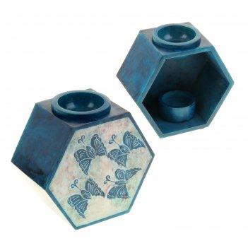 Аромалампа из камня бабочки в форме многогранника
