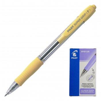 Ручка шариковая автоматическая pilot super grip, узел 0.7 мм, чернила сини
