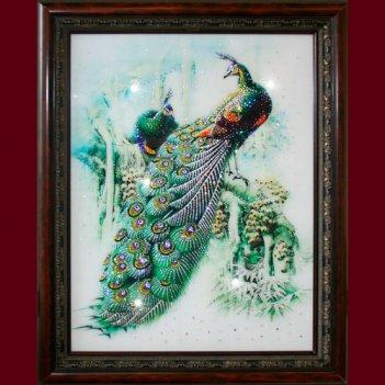 Картина сваровски - павлины