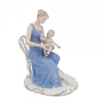 Фигурка декоративная мама с ребенком, l28 w13 h24 см
